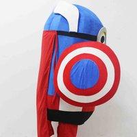 Wholesale-3D Cattivissimo Me fumetto del costume della mascotte carattere costume Minion Capitan America costume della mascotte del fumetto Costume Party