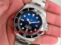 Wholesale Luxury Watch Mens Watch mm Blue Ceramic Bezel Sea Dweller Stainless Steel Automati Watch Men s Watches Wristwatch