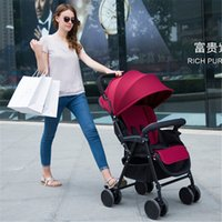 Wholesale Top strollers Pushchair by Baby stroller Folding High Landscape Child Infant Car Shockproof Trolley Carriage Pushchair Pram