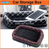 bentley dashboard - Car Interior Accessories Leather Tray Dashboard Home Storage Box With Sticker Trunk Bags Auto Car Storage Box Organizer Pockets