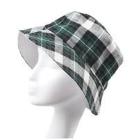 Wholesale factory UNISEX Classic canvas grid hat Reversible SUN hat Fisherman s Hat IN cotton Ripstop colors for choose