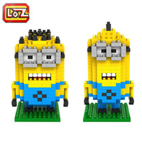 Wholesale Despicable Me Dave Bob Kevin Minions Types Diamond Building Blocks LOZ Blocks The Minion Action Figures Toys Good Christmas Gift for Kids