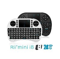 Wholesale 20X Wireless Keyboard rii mini X Wireless KeybFly Air Mouse Multi Media Remote Control Touchpad Handheld for TV BOX Android Mini PC FP