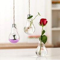 flower vases - Light bulb transparent glass vase modern fashion hydroponic flower vase decoration vase