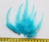 aqua extensions - 500pcs Selected Turquoise Rooster Saddle Feather Hair Extensions Pack quot