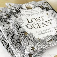 Wholesale high quality Lost Ocean Pages English Edition Coloring Book For Children Adult Relieve Stress Kill Time Graffiti Painting Drawing Book