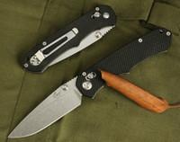 best knife handle wood - BEE Enlan EL02B folding hunting knives camping pocket knife rescue tool hand Cr13Mov HRC blade wood handle best gift edc
