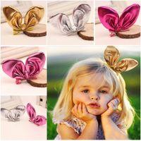 Wholesale 1 Baby Girl Kid Infant Toddler Rabbit Ear Hair Clip Bow Hairpin Headdress Colors