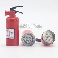 Precio de Fire extinguisher-Fumar Dogo nueva llegada magnética 3 capas Extintor Molinillos de hierba Altura 9.2cm Diámetro 3.2cm