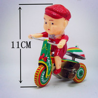 adult tricycle - 2015 Lovely Tricycle Model Tin Wind Up Toys for Children Adults Mini Vintage Clockwork Toys Educational Toy