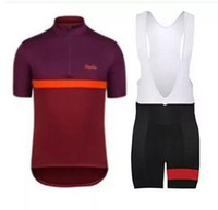 bib white - Rapha Cycling Jerseys Sets Cool Bike Suit Anti UV Cycling Shirt Bib Shorts Mens Cycling Clothing