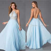 Cheap Chiffon prom Evening dresses Best Backless Prom Dresses