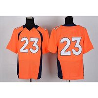 Cheap Cheap Elite Jersey Orange #23 American Football Apparels Team Sports Shirts Top Quality Discount Football Kits Top New Players Sporswear