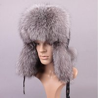 Wholesale Fox Raccoon fur bomber hat with leather top for men winter ear flaps Leifeng hats muticolors Russian Ushanka outdoor warm caps