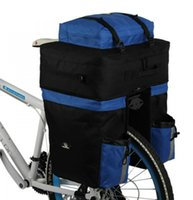 bicycle touring panniers - ROSWHEEL Long Distance Travel Bike Bicycle Rear Seat Bag L Capacity Cycling Touring Panniers Backpack With Rain Cover