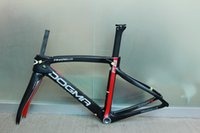 carbon - 2016 carbon road frame T1000 black red carbon road bike frame frameset glossy finish Carbon fiber bicycle frame BB68 BB30 complete road bike