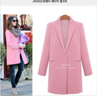 Wholesale Fashion Women Ladies Winter Wool Cashmere Long Parka Coat Trench Outwear Jacket DH04