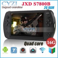 Wholesale 7 quot Quad Core Game Console Player tablet pc JXD S7800B S7800 gamepad Android G RAM GB X800 IPS Online game Dual Camera