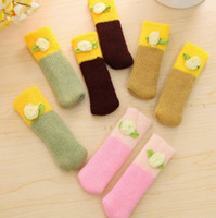 Wholesale Newest Korean Style Knitted Table Feet Cover Home Chair Leg Cover Floor Protector SET Colors Choose ZYR