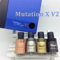 1 18 - new Mutation X V2 rda Atomizer clone big cap RDA rebuildable Atomizer Mutation X V2 v3 rba mod Vaporizer ego cigarettes air holes DHL