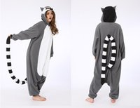 adult movies - Novelty Animal Lemur Long Tail Monkey Adult Onesie Unisex Women Men s Pajamas Halloween Christmas party clothing