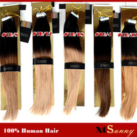 Wholesale XCSUNNY g Tape Hair Extensions Ombre Tape Adhesive Hair Extension Indian Remy Tape Hair Extensions Skin Weft Hair Extensions