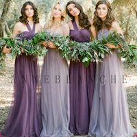 dress material - 2015 Fairy s Junior Bridesmaid Dresses Strapless Style Women Wedding Dress Various Wear Ways Gauze Material Dresses Party Evening