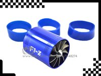 Wholesale F1 Z Single Dual Propeller Turbonater Air Intake Fuel Saver Turbo Fan R Min universal fitment stock and ready to ship