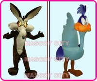 Wholesale Cartoon Character Wile E Coyote Road Runner mascot Costume Adult Hot Movie Anime cosply Costumes Carnival Fancy Dress Kits