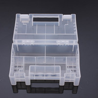 Wholesale New pc Large Transparent Plastic Battery Holder Storage Case For AA AAA Tools Box Easy Use