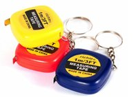 steel tape measure - DHL New Mini M Tape Measures Small Steel Ruler Portable Pulling Rulers With Key Chain Gauging Tools