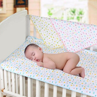 Wholesale New Reusable Washable Baby Infants Waterproof Urine Mat Cover Changing Pad Cotton Blue Pink Yellow selectable HO872733