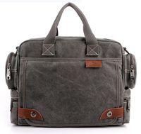 Wholesale US STOCK VEEVAN Man Fashionable Canvas Bag Male Shoulder Bags High Quality Laptop Briefcase bolsas femininas Men Messenger Bags