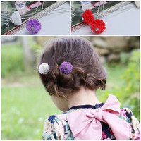 Wholesale Attractive Hair Jewelry Flowers Hairpins Fashion Hair Clips Nice Hair Accessories GRY