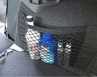 Wholesale Universal Car Seat Back Storage Elastic Mesh Net Bag Luggage Holder Pocket Sticker Trunk Organizer Strong Magic Tape Accessories