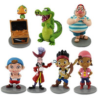 Wholesale 2015 new hot sale set anime figure PVC Jack and the Neverland Pirates Kids Gifts for Children CM