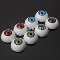 Wholesale 8pcs Pair of Eyes Eyeballs Fit into mask skull Halloween Eyeballs Prop Half Round NEW Christmas Gift order lt no track