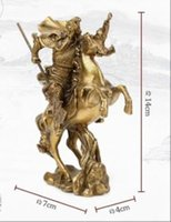 ancient chinese heroes - Chinese Ancient Hero Guan Gong Guan Yu ride on horse bronze statue NR