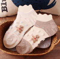 beer lacing - Summer Style Transparent Lace Beer Candy Color Knit Slippers Shallow Mouth Female Invisible Short Socks Slippers Pairs