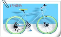 fixed gear - 26 inch fixed gear bike front and rear disc brake iron frame speed inch bicycle road bike