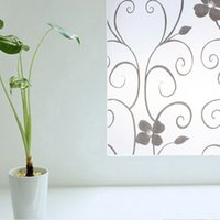 best metal tracks - Best Price x100cm Removable Recyclable Frosted Glass Window Film Flower Sticker Home Decoration order lt no track