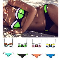 swimsuits - 2015 Newest Super Women Sexy Bikini Swimwear Triangle Fashion Swimsuit Set Push Up Beachwear Color