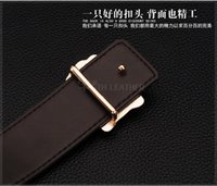 metal letters - 2016 New Fashion brand Metal series smooth Buckle mens belts luxury leather belt European style belts for Men dress belts for women belts