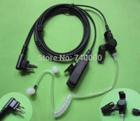radio earpiece - 2 Pin Headset Earpiece Mic Covert Acoustic Tube for Motorola Radio GP300 GP308 GP350 GP68 GP88 GP88S
