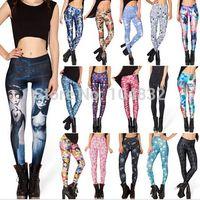 gold leggings - East Knitting Plus Size XXL S D Print Fitness Leggings For Women Pants Leggins Skull Muscle Corpse Bride