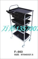 Wholesale Upscale hairdressing trolleys Universal belting leather hairdressing tool cart drawer