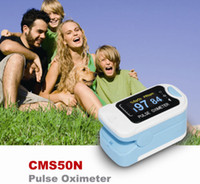 Wholesale 2015 Popular Finger Pulse Oximeter SPO2 PR Monitor Blood Oxygen OLED CMS50N Contec