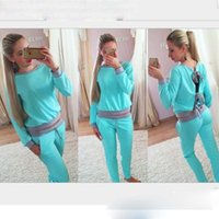 motorcycle shirt - Women Suit Spring and Autumn New Tee Shirt Pocket Trousers The Best Selling European Style Cotton Leisure Suit