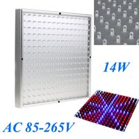 Wholesale LED Grow Plant Light Ultra bright Indoor Square Panel Blue Red Orange White Environment friendly Grow Light W