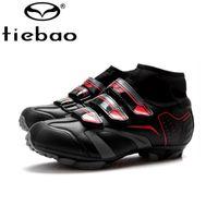 Wholesale Original TIEBAO Cycling Shoes winter men s boots Self Lock SPD Zapatillas MTB Shoes Men MTB Bicycle Shoes Sneakers Size